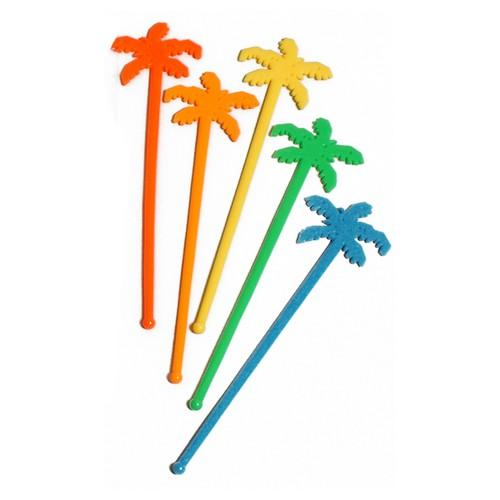 SWIZZLE STICK PALM TREE NEON 230MM ALPEN(PK100)