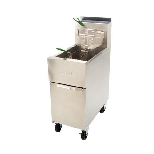FRYER SINGLE PAN 20L GAS 400MM  DEAN