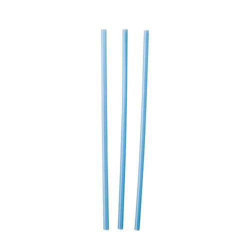 STRAW REGULAR PLASTIC BLUE 210MM (CT5000)