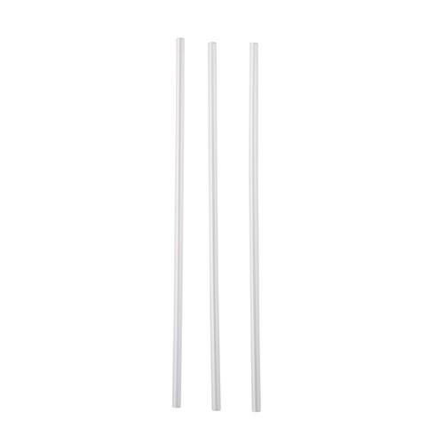 STRAW REGULAR PLASTIC CLEAR 210MM (CT5000)