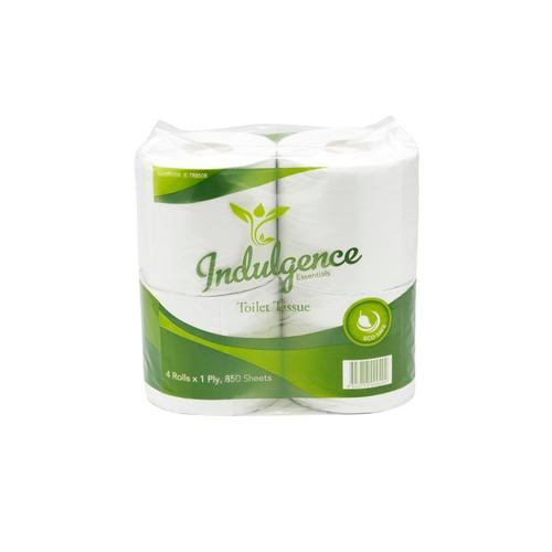 TOILET ROLL 1 PLY 850 SHEET RECYCLED ECO-SAFE ESSENTIALS