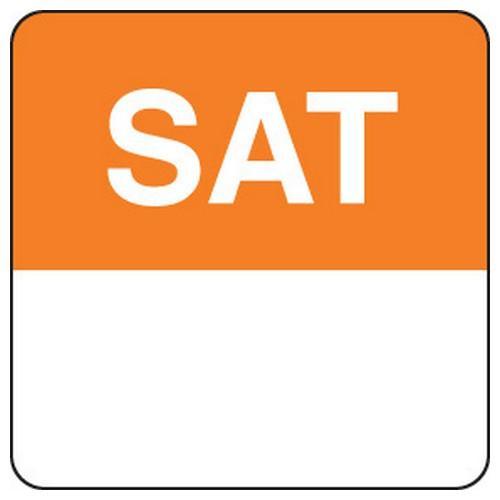 LABEL DAY - SATURDAY / ORANGE SQUARE 24MM REMOVABLE (RL1000)
