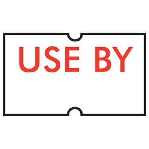 LABEL - USE BY - REMOVABLE FOR GUN (PK-5ROLLS)