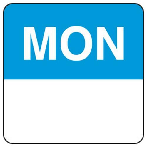 LABEL DAY - MONDAY / BLUE SQUARE 24MM REMOVABLE (RL1000)