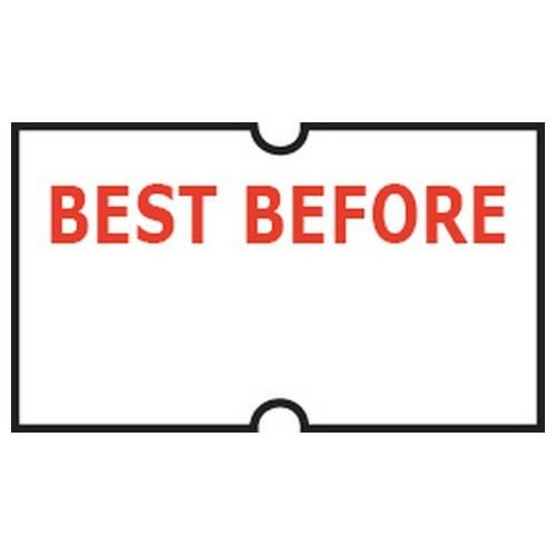 LABEL - BEST BEFORE - REMOVABLE FOR GUN (PK-5ROLLS)