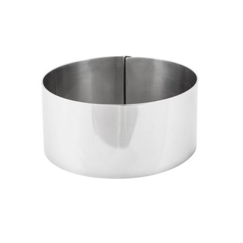 CAKE BAKING RING S/S ROUND 60X60MM