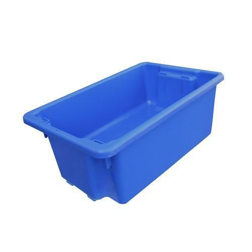 CRATE STORAGE #10 52L 645X413X276MM BLUE NALLY