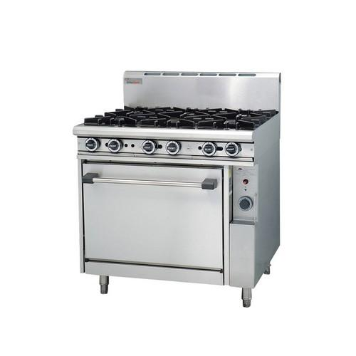 RANGE 6 BURNER  900MM GAS TRUEHEAT