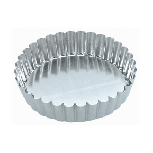 CAKE PAN TIN FLUTED 100X30MM LOOSE BASE GUERY