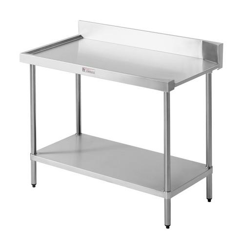 DISHWASHER OUTLET BENCH S/S LEFT 1200X600X900MM SIMPLY STAINLESS