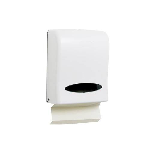 DISPENSER PLASTIC WHITE FOR SLIMFOLD TOWEL