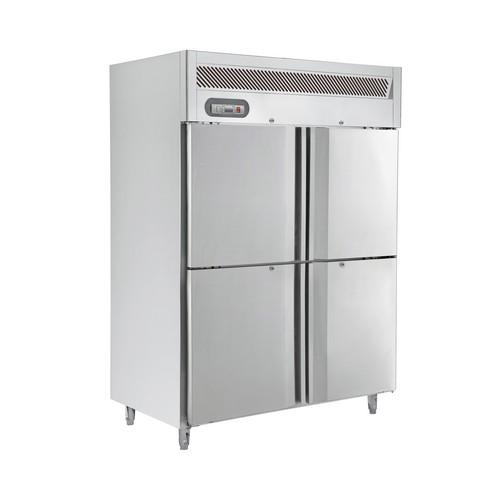 FREEZER UPRIGHT 2 SOLID S/S SPLIT DOOR 1200L SALTAS